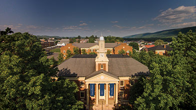 Aerial photo of Long Hall