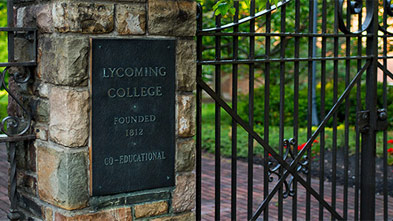 Lycoming College gate